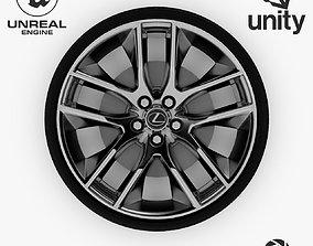 Wheel Steel-Chrome Alloy Rim Lexus 19 3D asset 3
