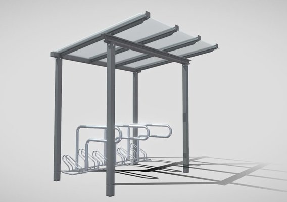 Bike Stand [1] Version [7] Glass Roof 2500mm