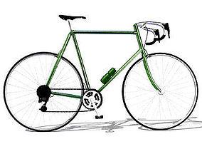 Simple Street Bicycle 3D