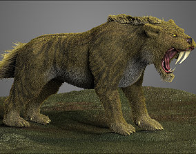 Saber tooth Cat High Poly Print ready 3D