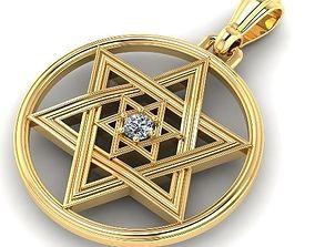 The pendant Magen David Star of David 3D printable model