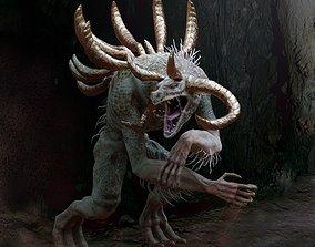 3D asset Green Cave Monster