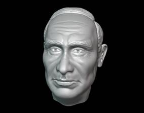 Vladimir Putin Head detailed 3D printable