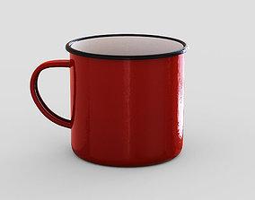 Red mug 3D model
