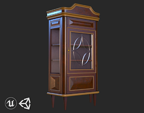 3D asset Vintage Furniture Cupboard PBR Game Ready