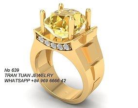 3D print model 639 Unisex Diamond Ring