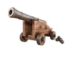 3D model realtime Old Cannon