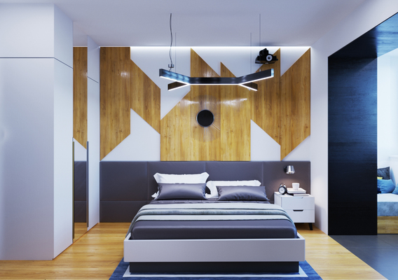 Bedroom & entrance hall