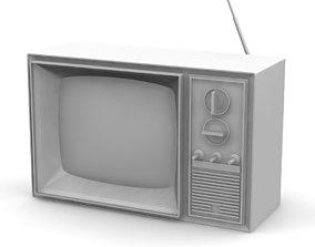 Vintage Television 3D printable model