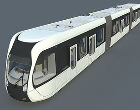 3D city tram
