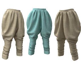 ottoman pants 3D model