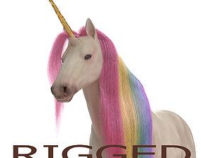 Unicorn rigged 3D model other