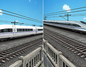 3D China High Speed Train - Harmony CRH380A CRH380B