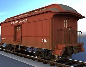 3D PRR Baggage Car