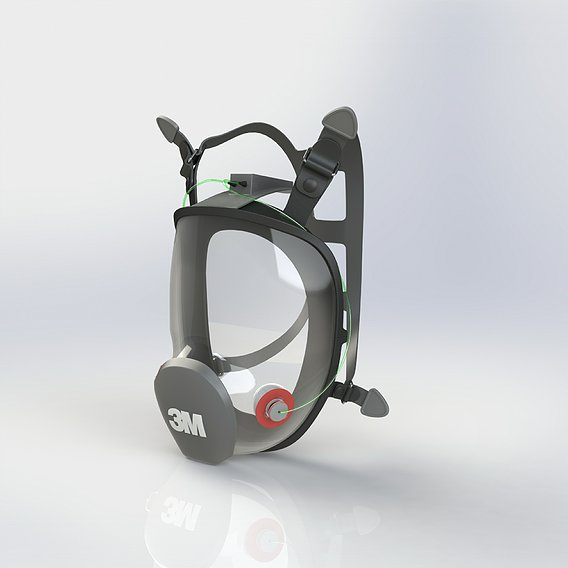 3M Respiratory Mask With Oxygen Pipe Attachment