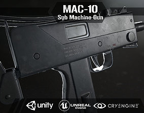 Mac 10 Sub Machine Gun 3D model