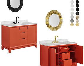 3D model Talyn 48 Burnt Orange rectangular and oval table