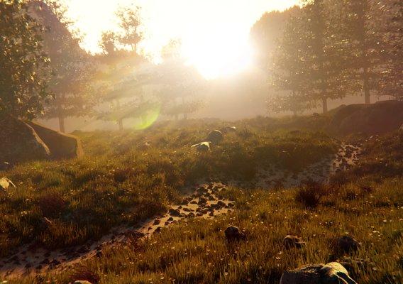 Horizon Zero Dawn inspired landscape