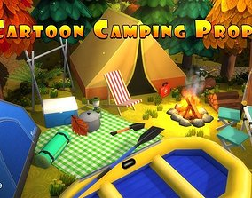 3D model Cartoon Camping Props