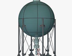 3D Industrial Storage Spherical Tank