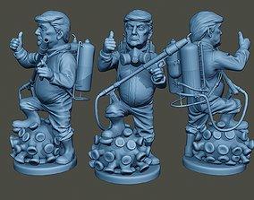 3D printable model Donald Trump Biohazard