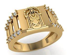 Balaji Diamond RIng 3D printable model