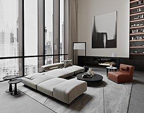 residential-space 3D model Modern Living Room
