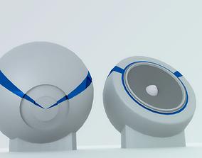 Modern Speakers 3D asset