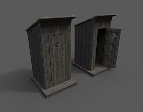 3D model Outhouse Toilet PBR