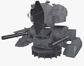 3D model animated Ship Weapon System Kortik aka Kashtan
