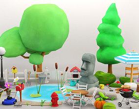 3D model Cartoon Garden Package