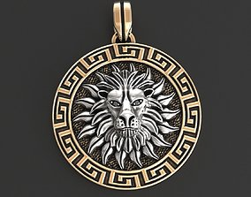 3D printable model Pendant of the solar lion in the 2