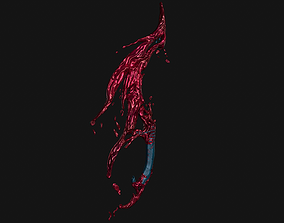 3D model realtime Bloody knife