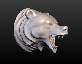 3D printable model Grizzly Bear Head