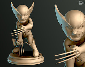 3D printable model wolverine SIMPLE - Brown Wolverine