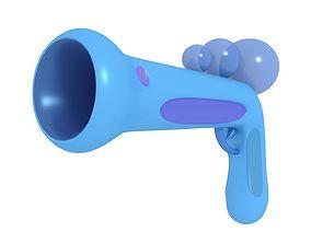 Bubble Gun with 2 Bubbles 3D model rigged