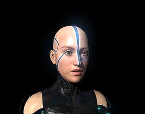 rigged Tavia - Hunari Warrior 3D model robot