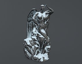woman statue 1 3D model game-ready