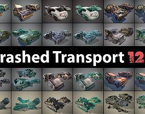 Crashed Transport 12a 3D asset