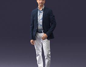 Man in blue jacket 0025 3D Print Ready