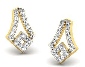 Women earrings 3dm render detail radiant