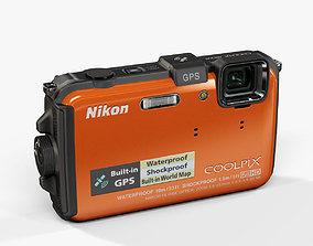 Nikon Coolpix AW100 rugged and proof digital 3D model