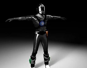 3D asset Futuristic military soldier