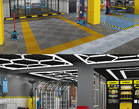 Collection of Car Repair Beauty Service Station 1 and 3D