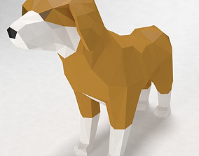 dog low poly style 3D model