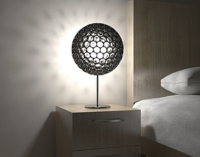 Metalic Lamp with 3D model