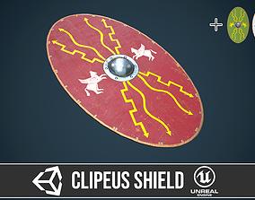3D asset Roman shield clipeus 1