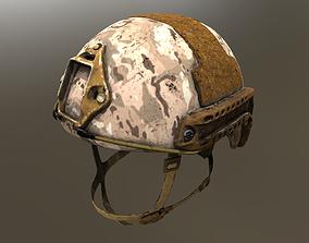 Three Ops-Core FAST Ballistic Helmets 3D model
