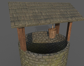 3D model game-ready Medieval Well