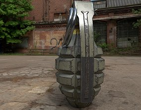 mk2 grenade 3d model low poly realtime